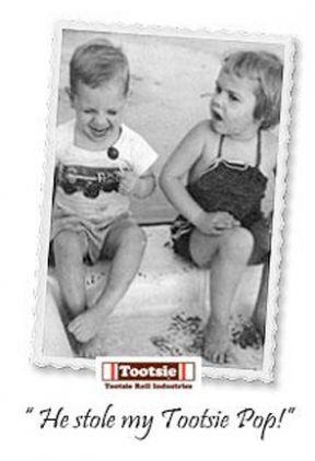 The stolen Tootsie Pop...