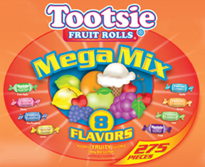 Test Tootsie Fruit Rolls Max the Fun with 8-Flavor Mega Mix