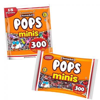 Group of Tootsie Pop Minis; Tootsie Roll products