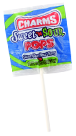 Charms Sweet And Sour Pops Blue Razzberry 'N Watermelon Flavor