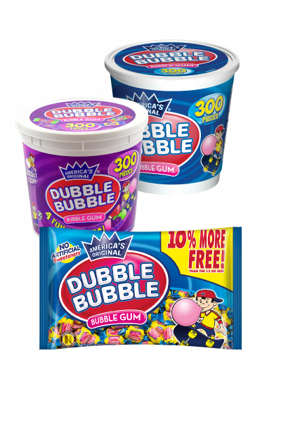 Group of Dubble Bubble Twist Gum; Tootsie Roll products