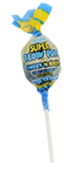 Charms Super Blow Pops Blue Razz Lemon Flavor