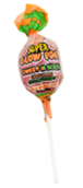 Charms Super Blow Pops Peach Watermelon Flavor