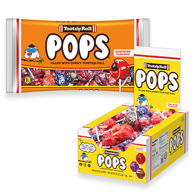 Group of Tootsie Pops; Tootsie Roll products