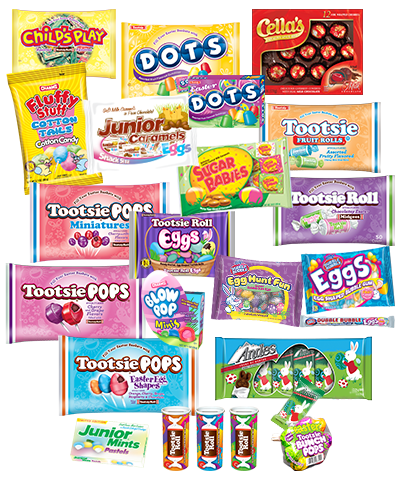 Group of Easter; Tootsie Roll products