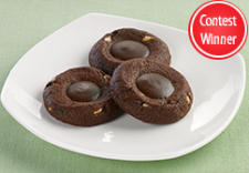 Andes Mint Chocolate Thumbprint Cookies